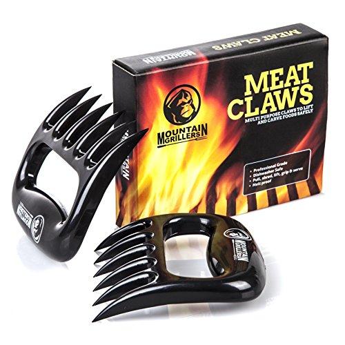 Mountain Grillers B077DKT757 Krallen - Hochwertige Meat Claws für amerikanisches BBQ Pulled Pork - Fleischkrallen aus Kunststoff zum Zerteilen - Spülmaschinenfeste...