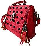 Rockabilly Punk Rock Baby Tasche Rot Big Diamante Skull Totenkopf Handtasche Bag