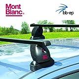 Exclusivo Mont Blanc Acero Baca/Last portaequipajes 91506638para Seat Leon–5Puertas Hatchback Tipo (1m1) con fixpunkten en el Techo–Sistema de baca Completo Incluye Candado y Llave
