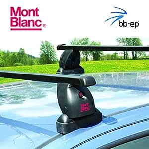 Exklusiver MontBlanc Stahl Dachträger / Lastenträger 91506579 für Volkswagen (VW) T4 Transporter - Van mit Fixpunkten im Dach - Komplettes Dachträgersystem inkl. Schloss und Schlüssel