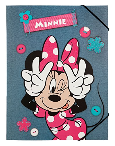 Undercover MIDS0300 - Gummizugmappe A4 Disney Minnie Mouse