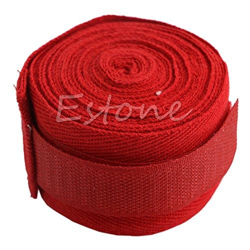 Kofun 2Stück, Boxen Boxen Hand Wraps Bandagen-Schutz Faust Boxsack, Baumwollmischung, rot, 1 Pair