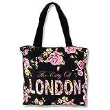 imppac Robin Ruth LONDON Blumen Henkeltasche Schultertasche schwarz pink Canvas OTG206S