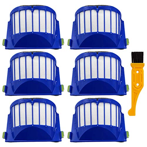 Ugardo Ersatzteile, 6 Stück, kompatibel mit iRobot Roomba 600 Serie 610 614 620 630 650 655 660 675 680 690 536 551 552 564 585 589 595 Roboter-Staubsauger Zubehör Kit