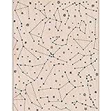 Unbekannt Hero Arts montiert Gummi Briefmarken 10,8cm x 14, Constellation Backg rund