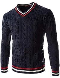 Suéter De Hombre Otoño Invierno Parte Gruesa Hombres Retro Suéter De Punto  Elegante Manga Larga Slim 843f053ec1ce
