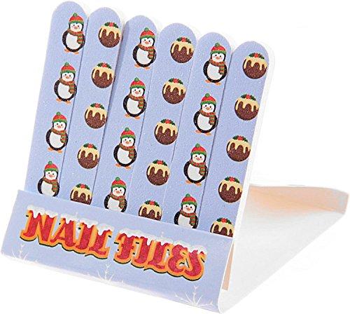 Mini coffret de limes en forme de zündholzbriefchen : Pingouin Noël ~ Idéal pour les Sac à main ou un petit Attention pour offrir