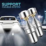 AMBOTHER 2pcs Phare Antibrouillard LED P21W BA15S 1156 XBD Auto Kit Ampoule Feux Arrière Véhicule Clignotant blanc DC 12-30V 600LM 6000K