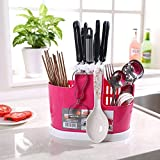 FastUnbox Kitchen Cutlery Storage Holder Stand For Kitchen Counter Top / Dining Table Storage Home Use Kitchen Tool Knife Spoon Chopsticks Fork Multi-Function Storage Box Rack