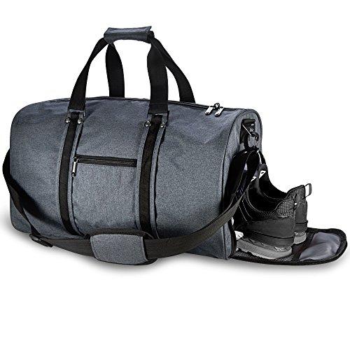 Sporttasche, LOFTer Reisetasche 38 Liter mit Schuhfach und Trinkflaschen-Halter Fitnesstasche Trainingstasche Weekender Tasche, Große Kapazität Handgepäck Tasche