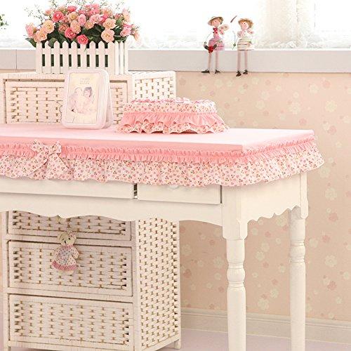 Schöne Kirsche Tischdecke Garten Stoff längliche Tischdecke Wohnzimmer Couchtisch Computer-Tischdecke Abdeckung Tuch-A 60x80cm(24x31inch) -