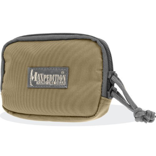 Maxpedition 3 x 5-inch Hook and Loop Zipper Pocket (Khaki-Foliage) by Maxpedition (X 5-pocket 3)