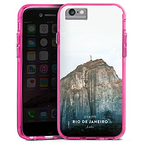 Apple iPhone 7 Bumper Hülle Bumper Case Glitzer Hülle Brasilien Musik Music Bumper Case transparent pink
