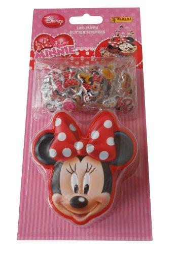 Disney Minnie - 100 Stickers Glitter Panini + Boite de rangement