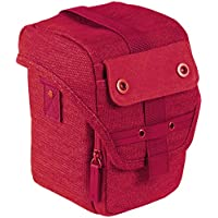 Trendz Canvas Case Cover Bag with Neck-Strap for Universal Bridge Cameras - Red