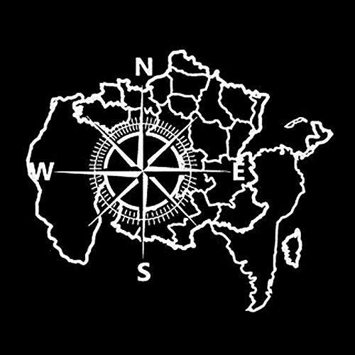 eber Mode Karte Kompass Rose Nautisch Navigieren Schiff Ozean Auto Aufkleber Vinyl Aufkleber 30 cm * 25,6 cm -1 Wasserdicht Aufkleber Für Alle Auto Modell ()