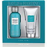 Baylis & Harding Men Citrus Bath Gift Set, Lime and Mint - 2 Piece