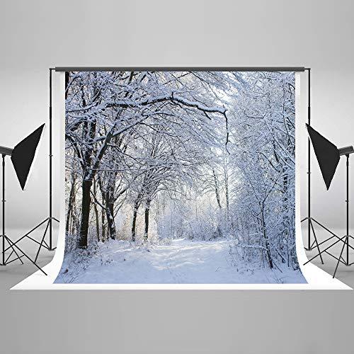 KateHome PHOTOSTUDIOS 2,2x1,5m Weihnachten Foto Hintergrund Winter Szene Hintergrund Schnee Baby Portraits Hintergründe Mikrofaser Foto Requisiten