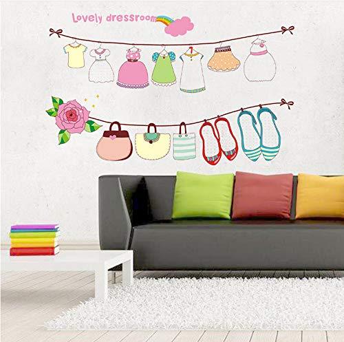 Kyzaa Diy Wohnkultur Cartoon Hübsche Frauen Kinder Mädchen Zimmer Dekorative Wandaufkleber Schuhe Tasche Aufkleber Für Kleidung