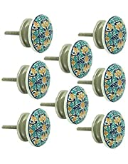 JP Hardware Ceramic Knobs for Cabinets & Cupboards Drawer Pulls (Multicolour) - Pack of 8
