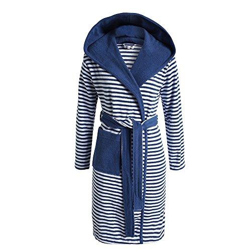 Esprit accappatoio a strisce - s XL, Moka, dimensioni da spiaggia cappotti: XL Blu