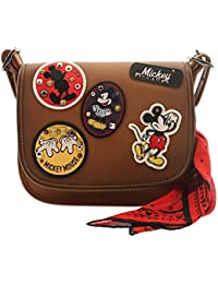 COACH MICKEY Patricia Saddle 23 in Glove Calf Leather with Mickey Patches