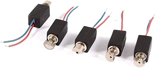 Vibrationsmotor - TOOGOO(R)4,6 mm x 4,8 mm 2 Draht DC 3V 2000 RPM Mini Micro Vibrationsmotor 5 Stueck