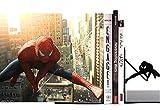 Spider Man Marvel Serre-livres, 1paire, 12,7cm, Acier lourd, Noir
