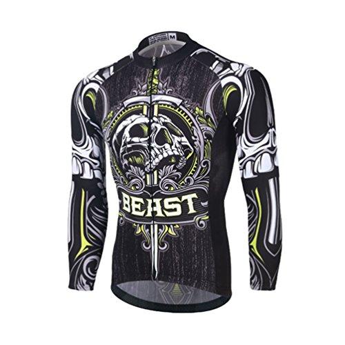 Baymate Herbst Winter Thermo Radsport Jacke Herren Fahrradtrikot Thermisches Langarm Shirt Männer Breathable - Männer Thermische Shirt
