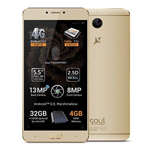 'alllview X3Soul Plus–Dual SIM LTE, 5.5IPS de FullHD, Octa Core Helio P10, Android 6.0, 4GB RAM, 32GB Flash, 13Mpx