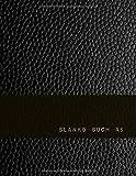 Blanko Buch A5: 110 Linierte & Nummerierte Seiten | DIN A5 Format | Schwarzer Leder Print