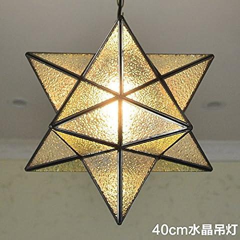 LYNDM soffitto luce stelle Lampadario Home lampada a sospensione Illuminazione per lampadario cristallino in camera da letto sala 40cm