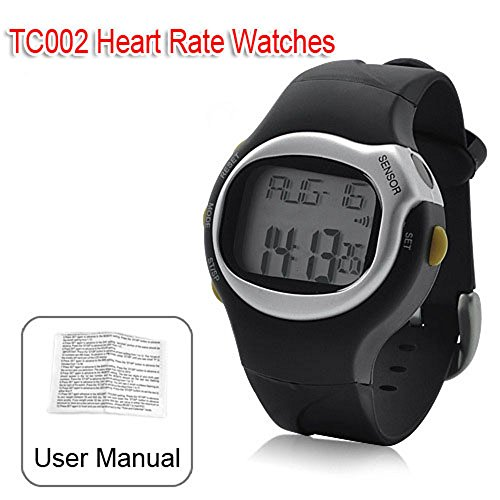Pulse Heart Rate Watch Monitor 6 in 1 Sport Watch Calorie Countrol Waterproof LED Unisex Watch TC002
