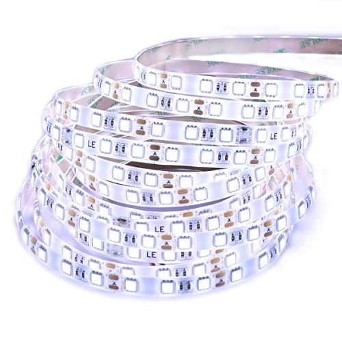 LE Tira LED Resistente al agua 5m 300 LED 5050, 720 lúmenes por metro, Blanco frío, 12V para bares, discotecas, muebles, etc.