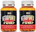Stimulating nitric oxide Pre Workout | Nitro Power Pump 2 packs from 120 tablets | GH | Pre workout | Increase muscle mass - increased performance | Muscle recovery | Formulation with: Arginine acg Glutamine peptide Citrulline Taurine Ornithine AKG Vitami