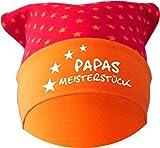 KLEINER FRATZ Baby KOPFTUCH Mütze (Farbe rot-orange) (Gr. 1 (56-74) Papas Meisterstück/FAT