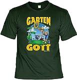 T-Shirt - Garten Gott - Lustiges Sprüche Shirt als Geschenk für Gärtner mit Humor