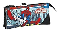 Marvel Spider-Man Ultimate Pencil Cases, 22 cm, Black (Negro)
