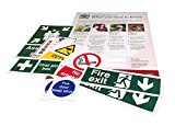 A2 Health And Safety Law Poster Complete With Safety Sign Pack Worth £30.00