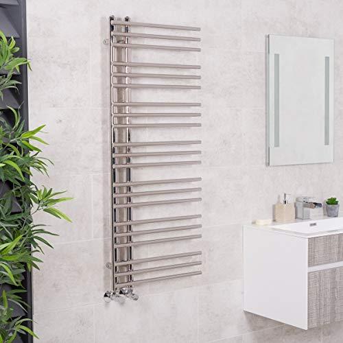 WarmeHaus Designer Handtuchheizkörper Badheizkörper 1250x500mm Chrom