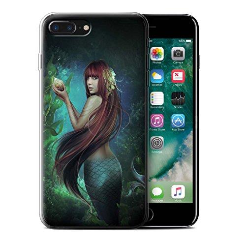 Officiel Elena Dudina Coque / Etui Gel TPU pour Apple iPhone 7 Plus / Mer Profonde/Hippocampe Design / Agua de Vida Collection Sirène/Shell