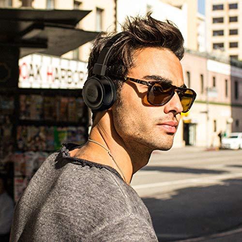 JBL T450BT Cuffie Sovraurali Bluetooth Cuffie On Ear Wireless con Microfono e Comandi su Padiglione JBL Pure Bass Sound, Leggere e Pieghevoli, da Viaggio, fino a 11 h di Autonomia, Nero - 4