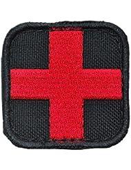 Condor Parche Medico Negro / Rojo