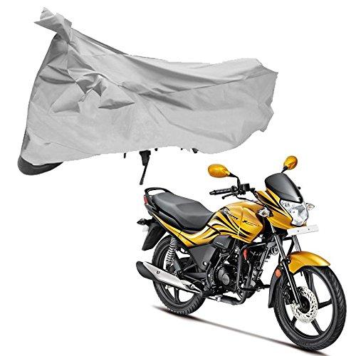 Adroitz Silver Bike Cover for Hero Passion Xpro (Small)