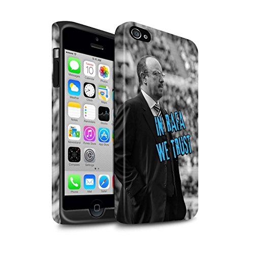 Officiel Newcastle United FC Coque / Matte Robuste Antichoc Etui pour Apple iPhone 4/4S / Pack 8pcs Design / NUFC Rafa Benítez Collection Nous Avons Confiance