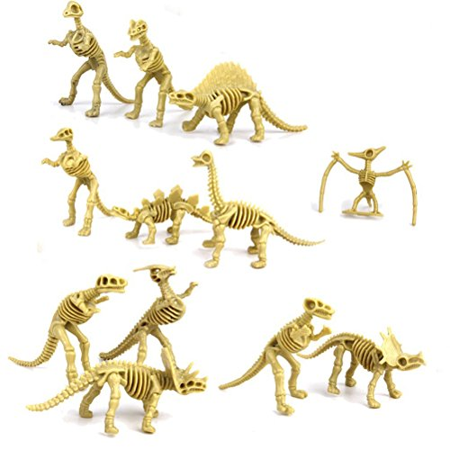 NUOLUX 12st assortierte Dinosaurier Fossil Skelett Figuren Kinder - Für Dinosaurier-spielzeug Kinder