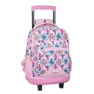 511cpVl4%2BEL. SS324  - Moos  Flamingo Pink Oficial Mochila Escolar Grande Con Ruedas 320x140x460mm