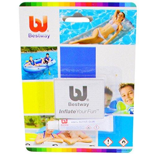 Bestway Pool Reparaturset 2tlg. 130cm² Flicken Kleber Flickset Poolflickzeug
