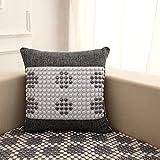 Sofa Kissen Sommer kühlen Rücken Kissen Keramik Bead Massage kühlen Kissen Nackenrolle Kissen Bürostuhl Rückenlehne ( Farbe : Grau , größe : 49.5X49.5CM )