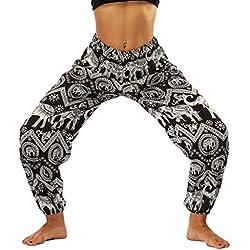 Lvguang Pantalones de Linterna Deportivas Impresión Mujer Pantalones Yoga Mujeres Fitness Yoga Pantaló Pilates Fitness (Estilo10, One Size)